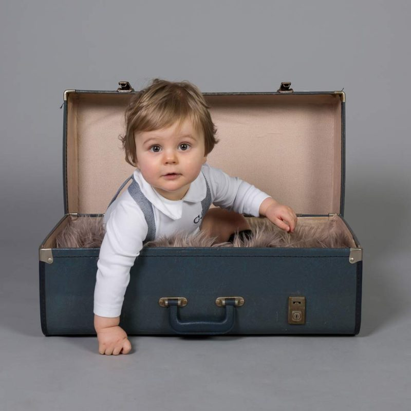 Baby photograph suitcase