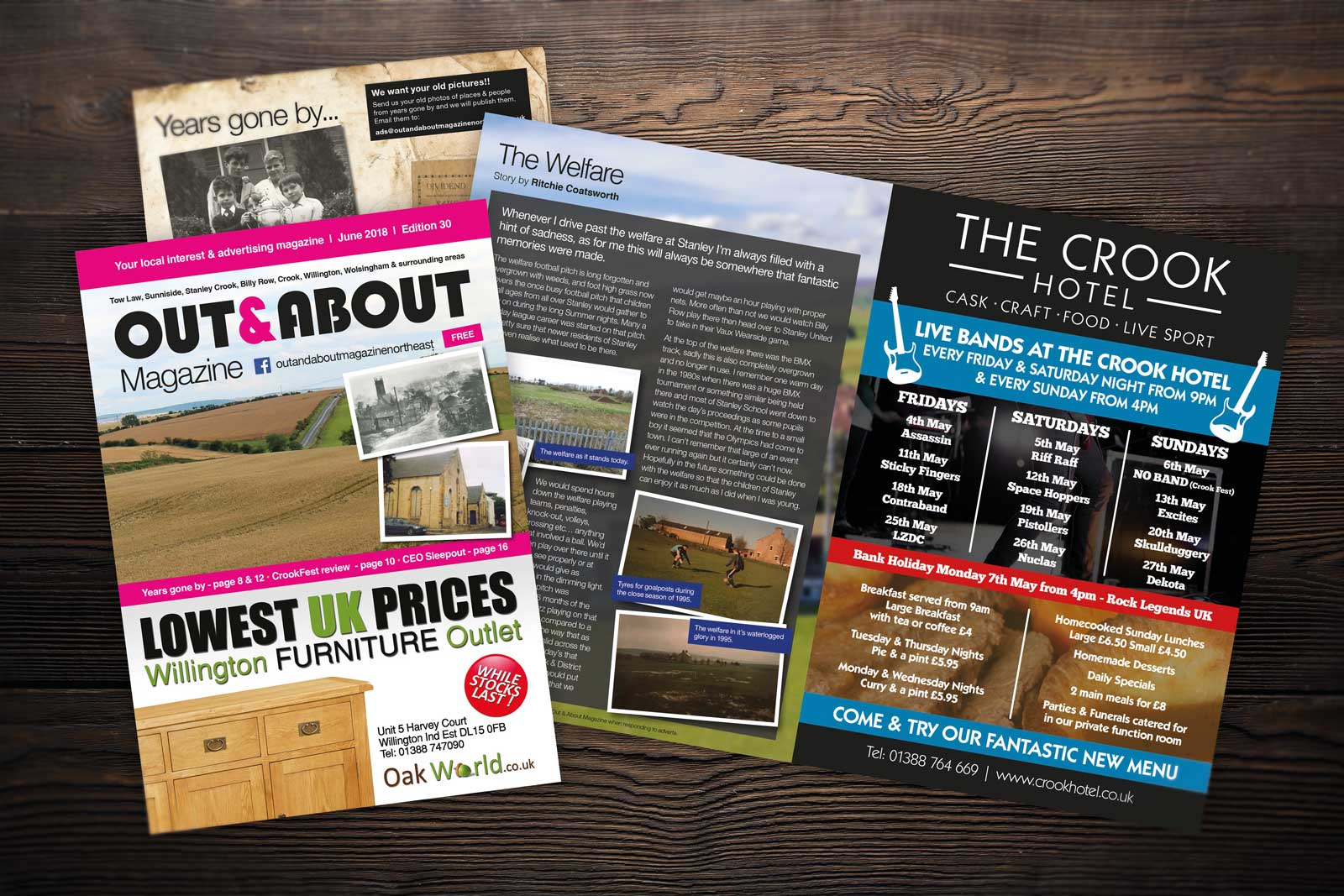 Out & About Magazine Adverts