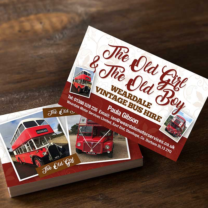 Weardale Bus Business Cards