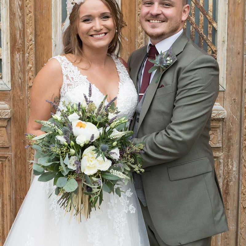 Le Petit Chateau Wedding Couple