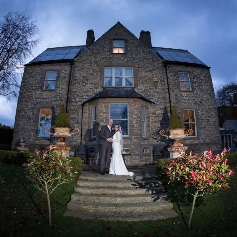 The Old Vicarage Castleside Wedding Couple