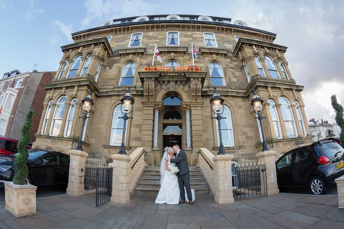 The Grand Hotel, Tynemouth Wedding Couple